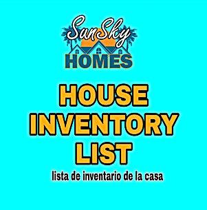 SunSky Homes - Inventory List