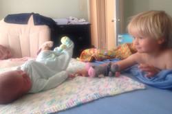 Baby Gillian & proud brother Daniel