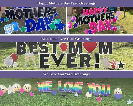 Mothers Day Yard Card Greetings