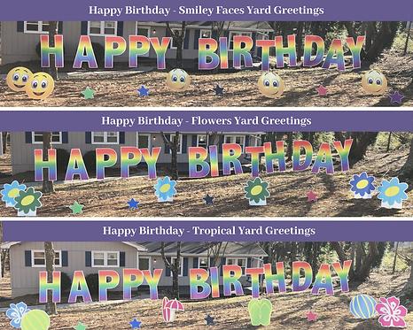 Happy Birthday Yard Card Greetings