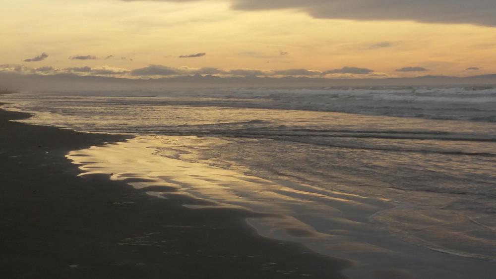 Winter Waimari Beach Christchurch New Zealand