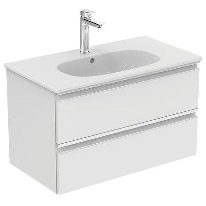 IDEAL STANDARD Κάτω μέρος TESI II 80cm λευκή γυαλ/ρή λάκα