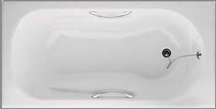 Μπανιέρες Μαντεμένιες με λαβές 170x75