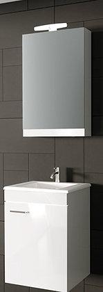 NIREAS Καθρέπτης Ντουλάπι 45cm Αριστερό Λάκα Λευκή