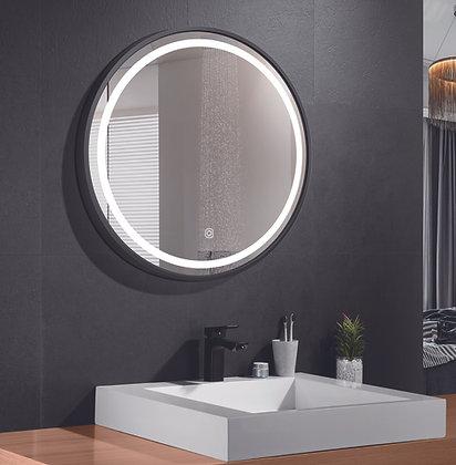 Καθρέπτης 80x80cmDaylightTotem Μαυρό Πλαίσιο