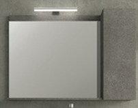 HERMES Καθρέπτης με Ντουλάπι Δεξιό.80cm Καρυδιά σκούρο