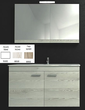 NIREAS Καθρέπτης Ντουλάπι 55cm Λάκα Λευκή