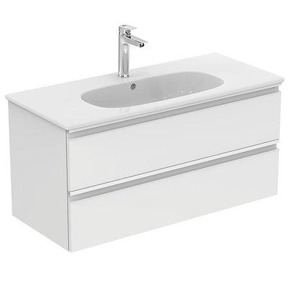 IDEAL STANDARD Κάτω μέρος TESI II 100cm λευκή γυαλ/ρή λάκα
