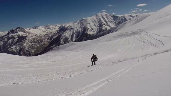 Skiing in La Foux, Val d'Allos