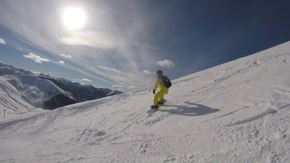 Sunshing Skiing at Val d'Allos