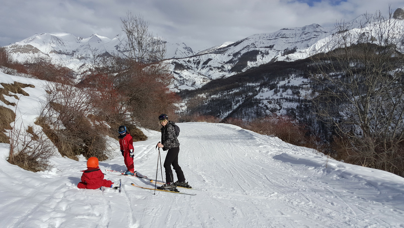 Teaching the Kids at Val d'Allos