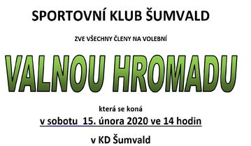 VOLEBNÍ VALNÁ HROMADA 2020 !