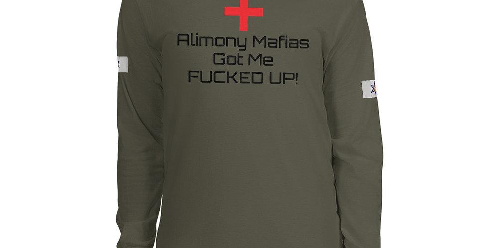 Alimony Mafias G.M.F.U Men's Long Sleeve Shirt