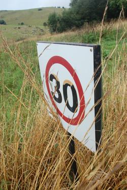 Please do not speed!