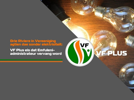 VF Plus eis dat Emfuleni-administrateur vervang word