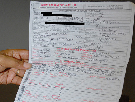 The RTMC advises motorists to check outstanding traffic fines