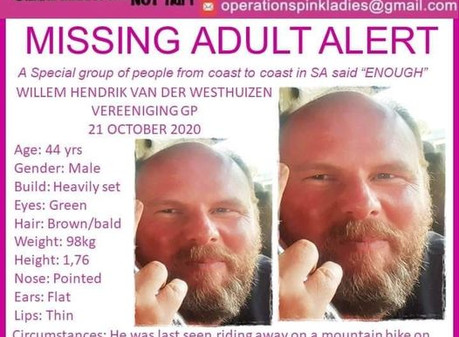 44-year-old man missing for almost a week from Vereeniging