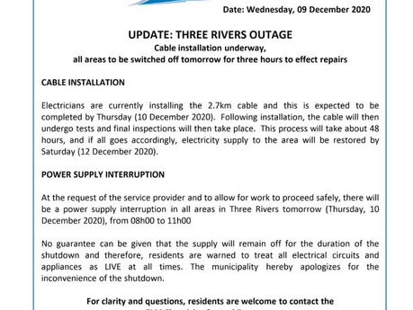 Still no power for certain Three Rivers residents