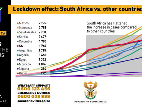 Rate of new daily coronavirus cases decreased from 42% to 4% during the lockdown period