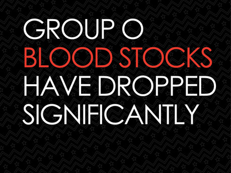 Blood service in urgent need of Group O blood