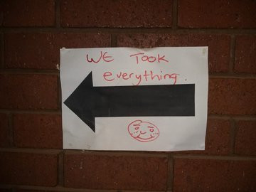 Message left by thieves at Sebokeng education offices reads 'We took everything'