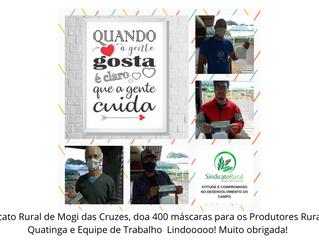 Produtores Rurais de Quatinga agradecem ao Sindicato Rural de Mogi das Cruzes