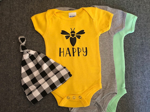 Bee Happy Onesie