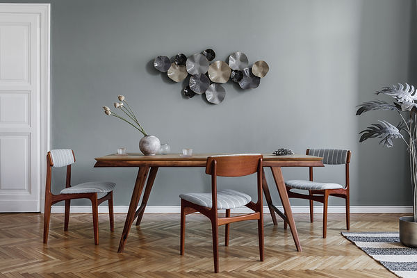 Modern dining room interior with glamour