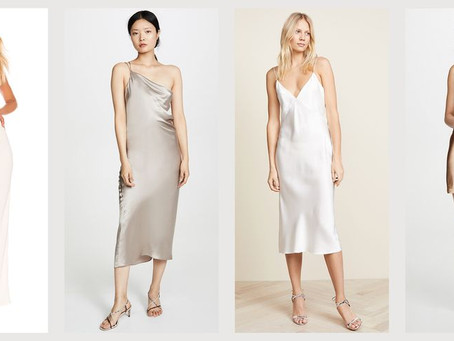 Cowl Neck Slip Dresses - The '90s classic that never goes out of style.
