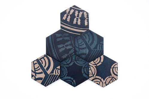 ASSORTED COASTERS (SET OF 4)