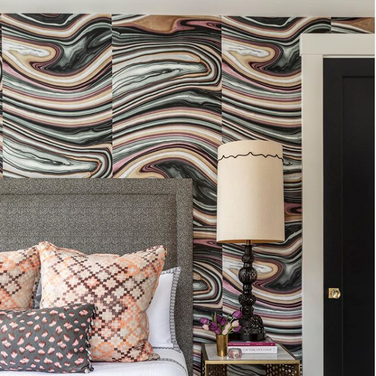 reupholstered wall panels