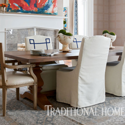 Our dining set published in Traditional Home