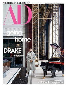 Architectural Digest Drake cover