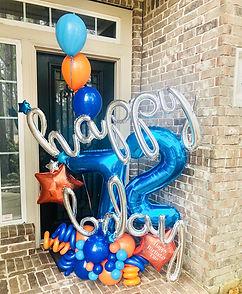 AirCraft Balloon Designs Happy Birthday