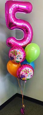 AirCraft Balloon Designs Candy Birthday