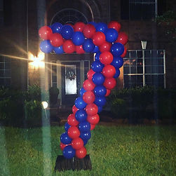 Surprise yard balloons for a special boy