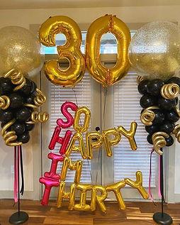 AirCraft Balloon Designs 30th Birthday B