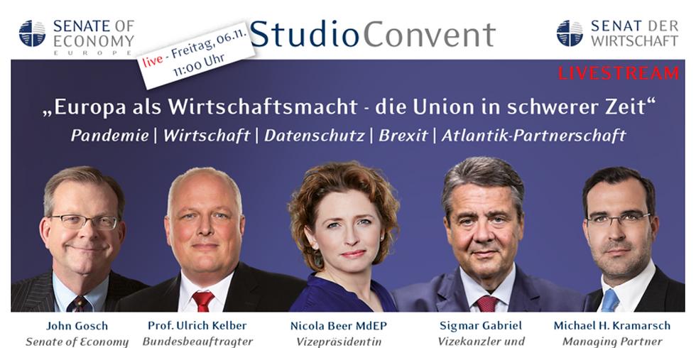 StudioConvent u.a. mit Sigmar Gabriel – Nicola Beer – Ulrich Kelber