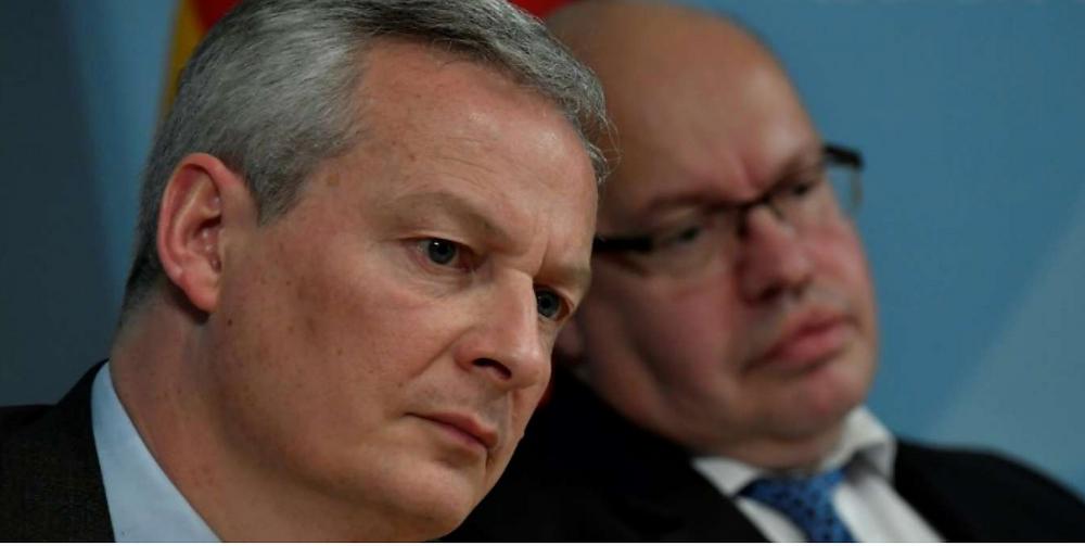 Bundeswirtschaftsminister Peter Altmaier (CDU) und sein französischer Kollege Bruno Le Maire