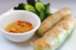 Prawn Salad rolls, pure delight cafe, vietnamese food vancouver