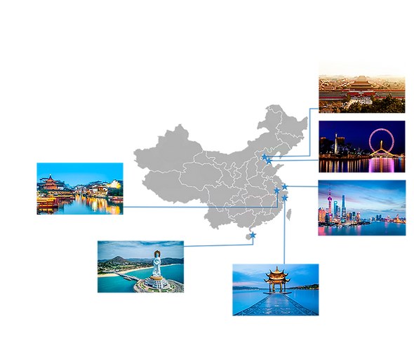 China Hositality and Tourism The Program Positions Map