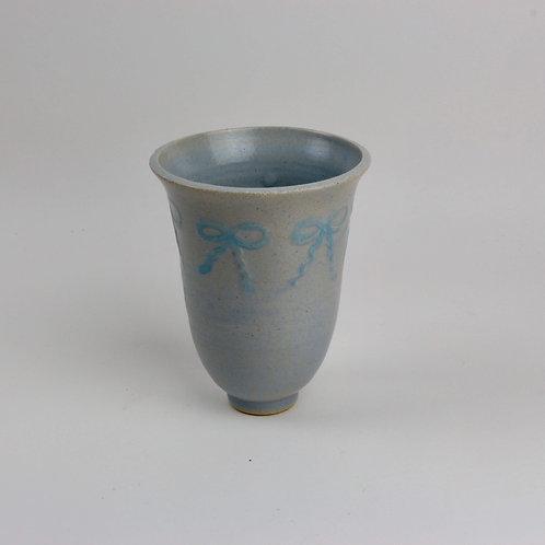 Etched bows Vase