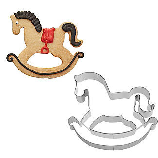 Cookie cutter rocking horse biscuit stainless steel cake decorating