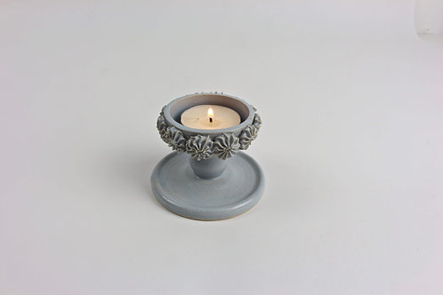 Piped Tea light candleholder