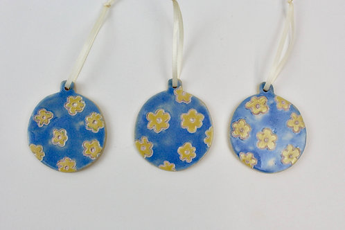 Flowery Bauble Christmas Ornaments