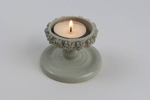 Piped Tea light candleholder