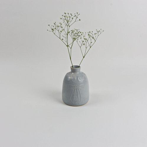 Etched bow Vase