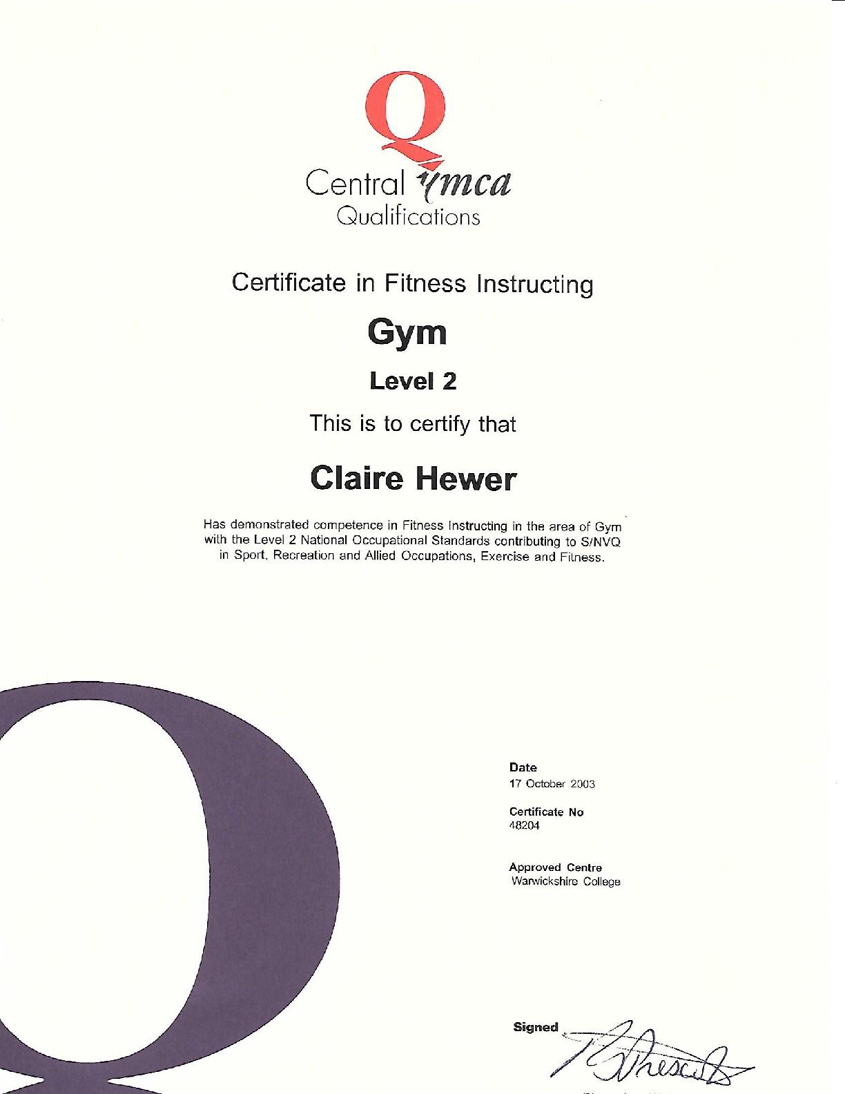 Level-2-Gym-Instructor-CERT-2003-001