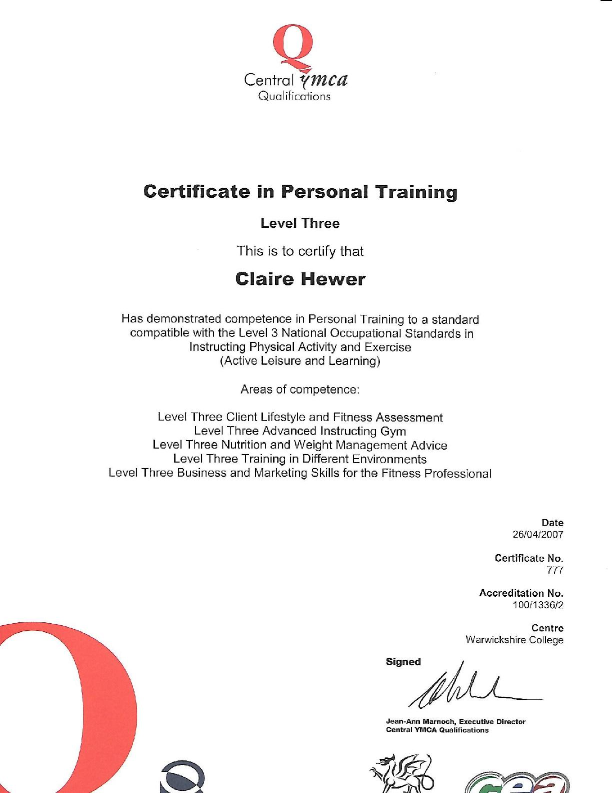 level-3-Personal-trainer-2007-CERT-001