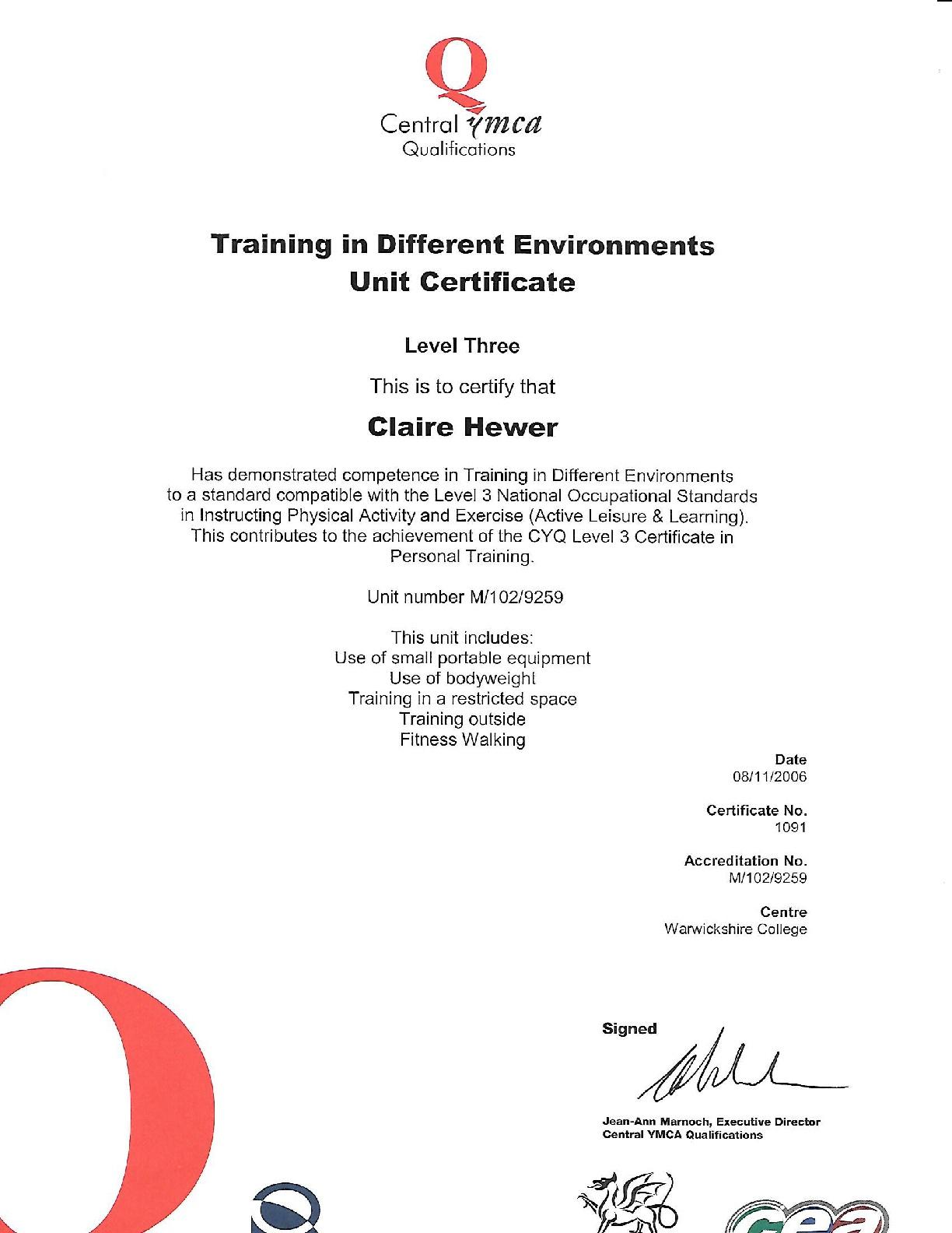 Level-3-Training-in-different-enviroments-CERT-001